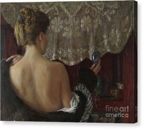 Little Mirror Canvas Print by Korobkin Anatoly