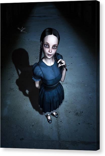 Creepy Canvas Print - Little Miss Innocent by Britta Glodde