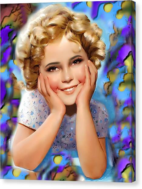 Little Miss Shirley Canvas Print