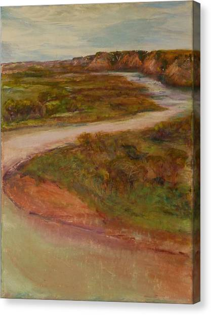 Little Missouri Overlook  Canvas Print