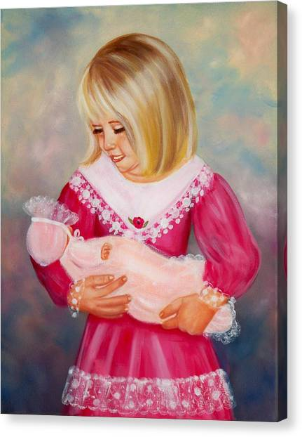 Little Mommy Canvas Print by Joni McPherson