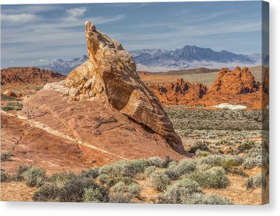 Little Monument In Valley Of Fire Canvas Print