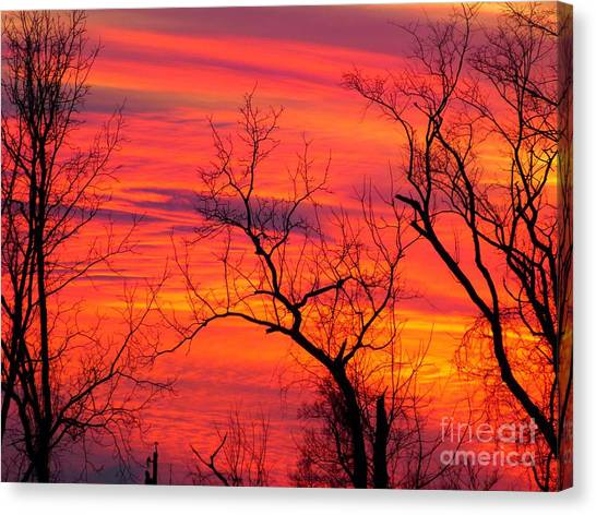 Little More Color At Sunset Canvas Print