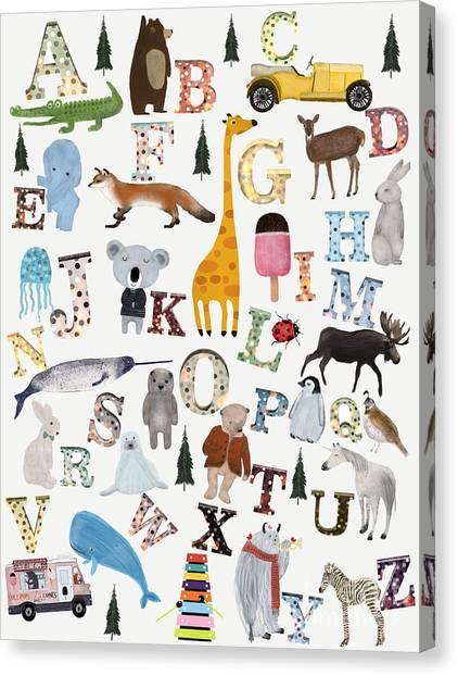 Koala Canvas Print - Little Nature Alphabet by Bleu Bri