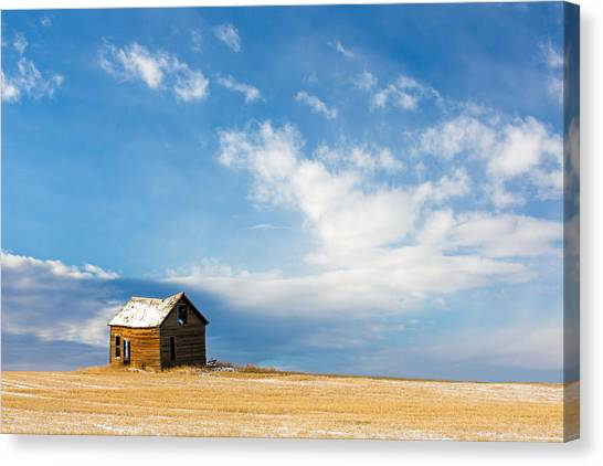 Old Houses Canvas Print - Little Old House by Todd Klassy