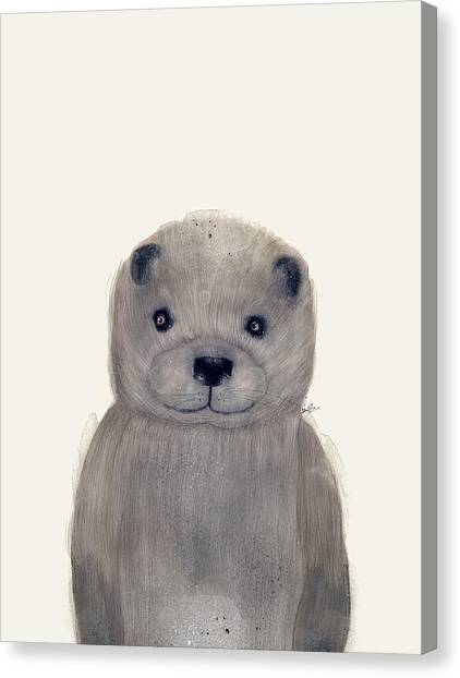 Otters Canvas Print - Little Otter by Bri Buckley