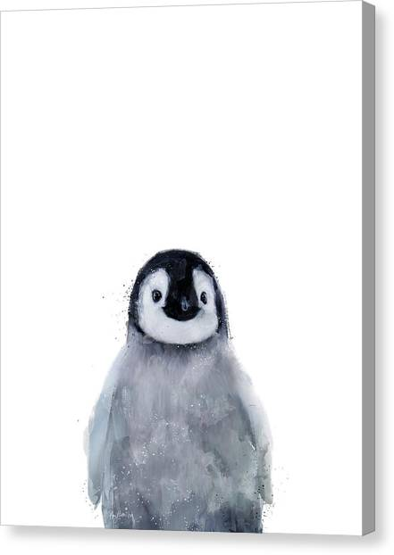 Penguins Canvas Print - Little Penguin by Amy Hamilton