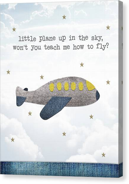 Pilots Canvas Print - Little Plane by Samuel Whitton