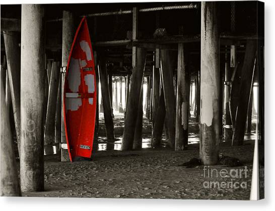 Little Red Boat IIi Canvas Print