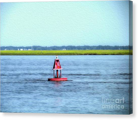 Little Red Buoy  Canvas Print
