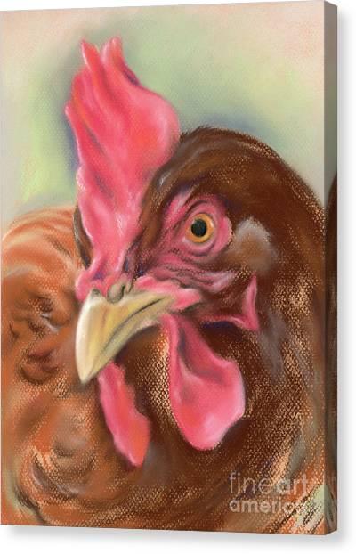 Little Red Hen Canvas Print