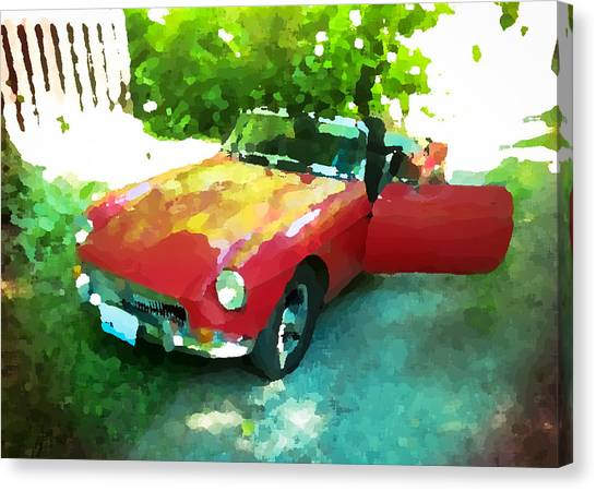 Little Red M G B Canvas Print