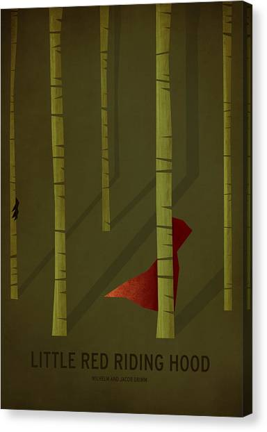 Childrens Room Canvas Print - Little Red Riding Hood by Christian Jackson