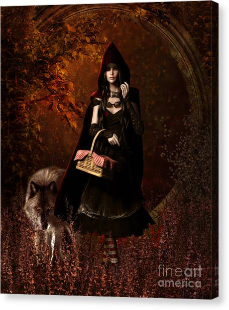 Little Red Riding Hood Gothic Canvas Print