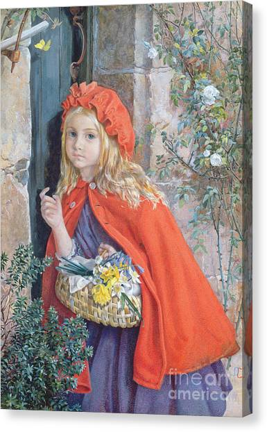 Grandma Canvas Print - Little Red Riding Hood by Isabel Oakley Naftel