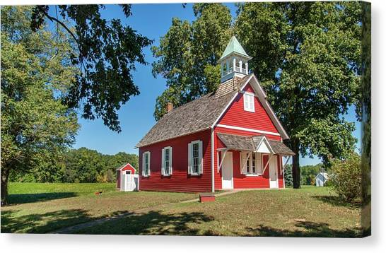 Canvas Print - Little Red School House by Charles Kraus
