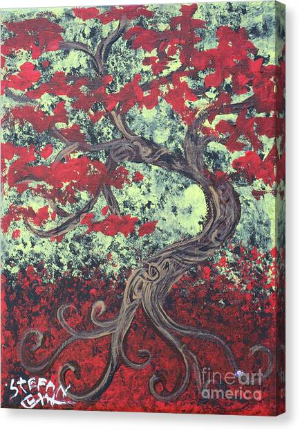 Little Red Tree Series 3 Canvas Print