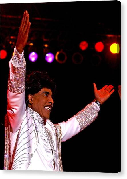 Little Richard Canvas Print by Bob Guthridge