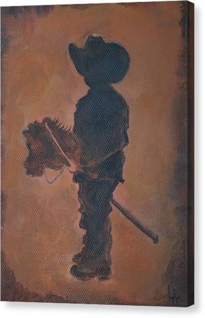 Little Rider Canvas Print