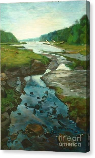 Little River Gloucester Canvas Print