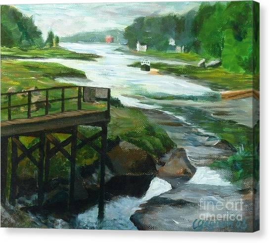 Little River Gloucester Study Canvas Print