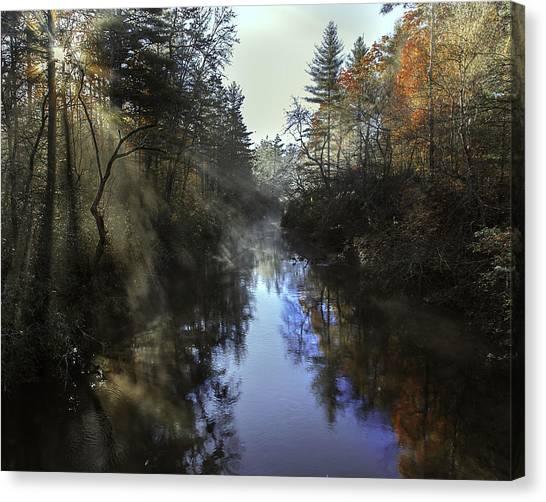 Little River Sunrise Canvas Print