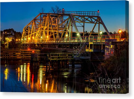 Little River Swing Bridge Canvas Print
