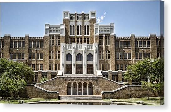 National Guard Canvas Print - Little Rock Central High by Stephen Stookey