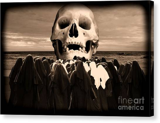 Little Sisters Of The Divine Skull Canvas Print by Wayne Higgs