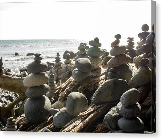 Little Stone Sculptures Canvas Print