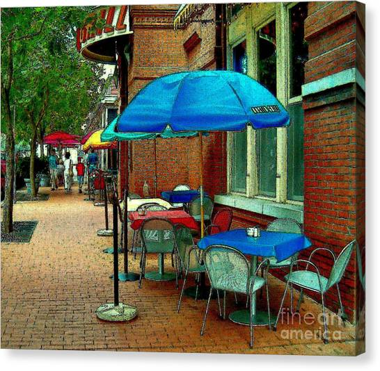 Little Street Cafe Canvas Print
