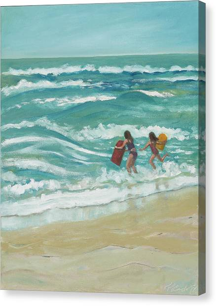 Little Surfers Canvas Print