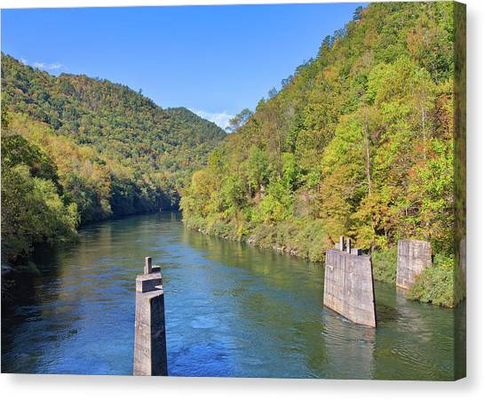 Appalachian Mountains Canvas Print - Little Tennessee River 2 by John M Bailey