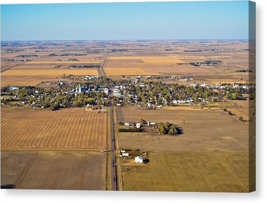 Little Town On The Prairie Canvas Print