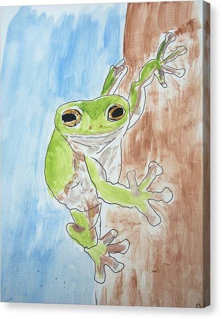 Little Tree Frog Canvas Print by Jennifer Coleman
