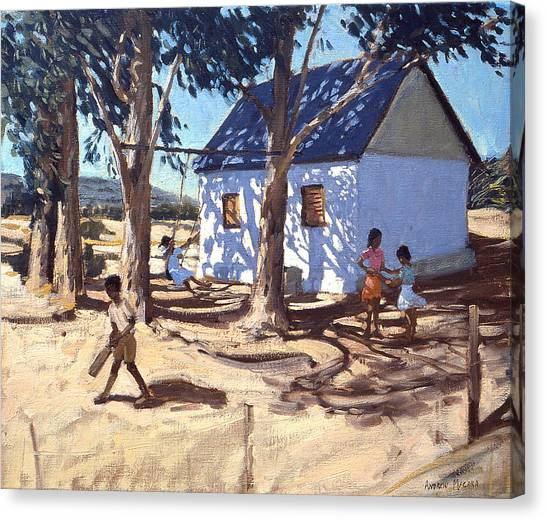 Crickets Canvas Print - Little White House Karoo South Africa by Andrew Macara