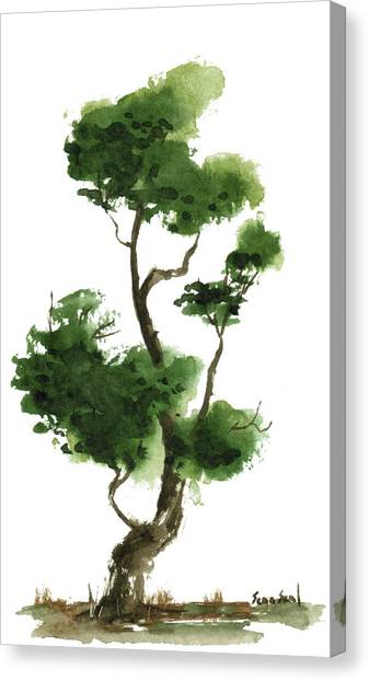 Little Zen Tree 145 Canvas Print