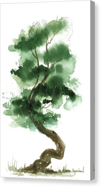 Little Zen Tree 151 Canvas Print