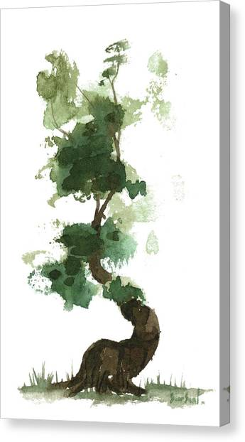 Little Zen Tree 154 Canvas Print