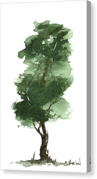 Little Zen Tree 161 Canvas Print