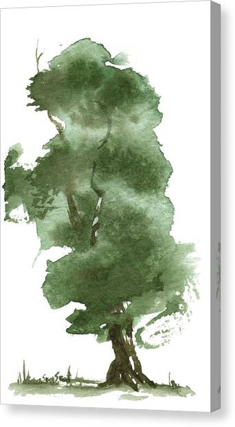 Little Zen Tree 162 Canvas Print