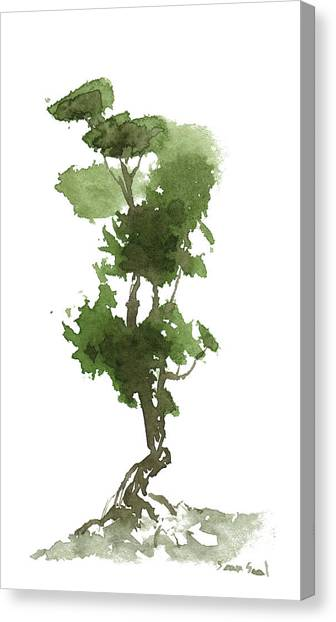 Little Zen Tree 186 Canvas Print