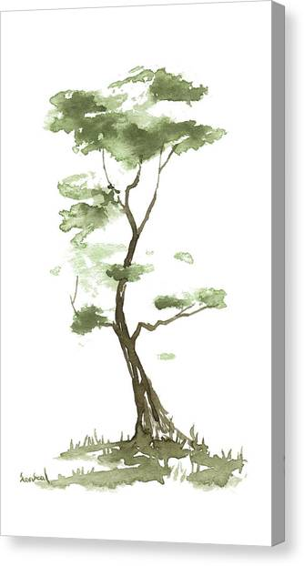Little Zen Tree 204 Canvas Print