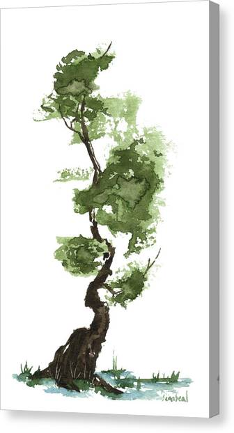 Little Zen Tree 207 Canvas Print