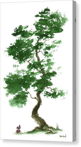Little Zen Tree 365 Canvas Print