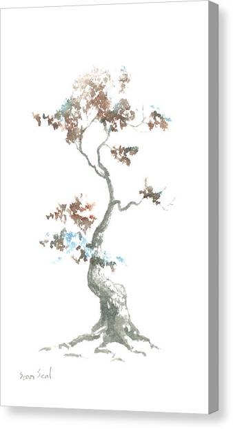 Little Zen Tree 444 Canvas Print
