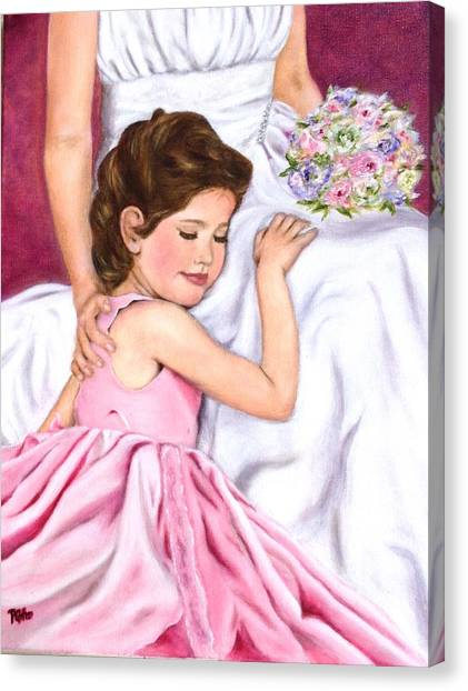 Littlest Wedding Belle Canvas Print