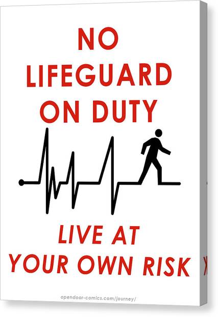 Live At Your Own Risk Canvas Print by Jon Maki