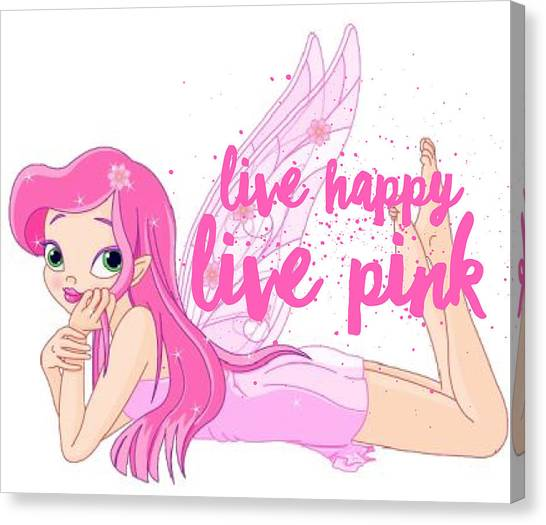 Canvas Print - Live Happy Test by The Pink Princess Shop