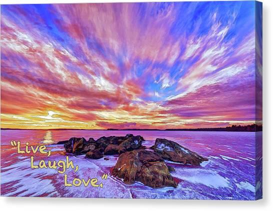 Live, Laugh, Love Canvas Print